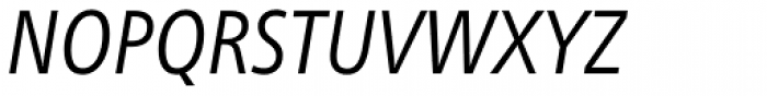Neue Frutiger Paneuropean W1G Condensed Book Italic Font UPPERCASE
