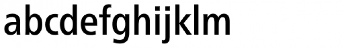 Neue Frutiger Paneuropean W1G Condensed Medium Font LOWERCASE