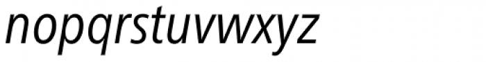 Neue Frutiger Pro Cyrillic Condensed Book Italic Font LOWERCASE