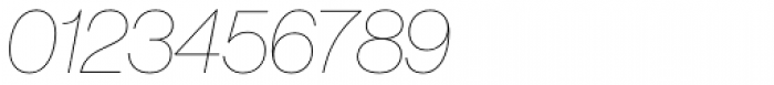 Neue Haas Grotesk Pro Display 16 UltraThin Italic Font OTHER CHARS