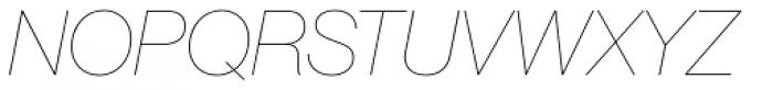 Neue Haas Grotesk Pro Display 16 UltraThin Italic Font UPPERCASE