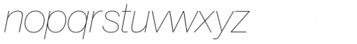 Neue Haas Grotesk Pro Display 16 UltraThin Italic Font LOWERCASE