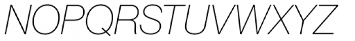 Neue Haas Grotesk Pro Display 26 Thin Italic Font UPPERCASE