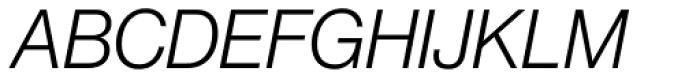 Neue Haas Grotesk Pro Display 46 Light Italic Font UPPERCASE