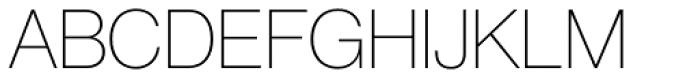 Neue Haas Grotesk Std Display 25 Thin Font UPPERCASE
