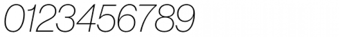 Neue Haas Grotesk Std Display 26 Thin Italic Font OTHER CHARS