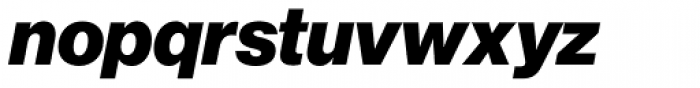 Neue Haas Grotesk Std Display 96 Black Italic Font LOWERCASE