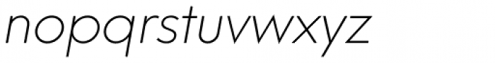Neue Hans Kendrick Extra Light Italic Font LOWERCASE