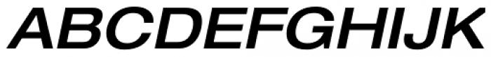 Neue Helvetica Paneuropean 63 Medium Extended Oblique Font UPPERCASE
