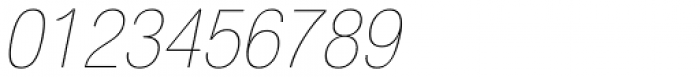 Neue Helvetica Pro 27 Ultra Light Condensed Oblique Font OTHER CHARS