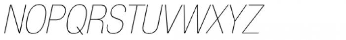 Neue Helvetica Pro 27 Ultra Light Condensed Oblique Font UPPERCASE