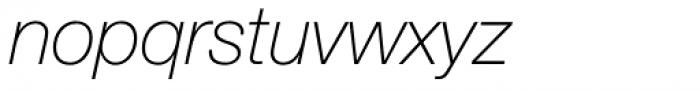 Neue Helvetica Std 36 Thin Italic Font LOWERCASE