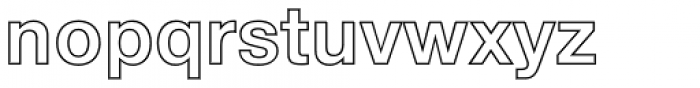 Neue Helvetica Std 75 Bold Outline Font LOWERCASE
