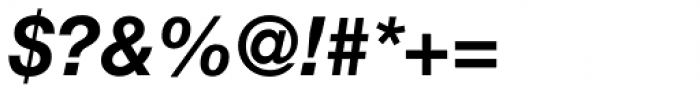 Neue Helvetica Thai Bold Italic Font