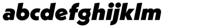 Neue Kabel Black Italic Font LOWERCASE