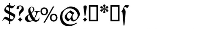 Neue Luther Frak SB Medium Font OTHER CHARS