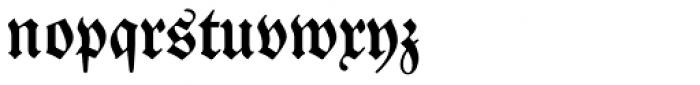 Neue Luthersche Fraktur Medium Font LOWERCASE