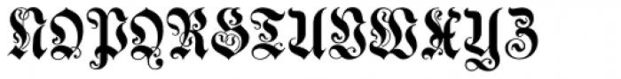Neue Muenchner Fraktur Font UPPERCASE
