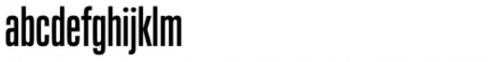Neue Plak Compressed Semi Bold Font LOWERCASE