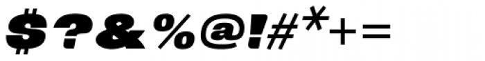 Neultica 4F Alt Black Italic Font OTHER CHARS