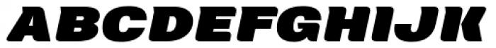 Neultica 4F Alt Black Italic Font UPPERCASE