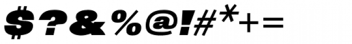 Neultica 4F Black Italic Font OTHER CHARS