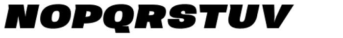 Neultica 4F Black Italic Font UPPERCASE