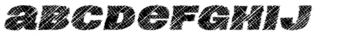 Neultica 4F Scratched Black Italic Font LOWERCASE