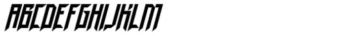 Neuntotter AOE Oblique Font UPPERCASE