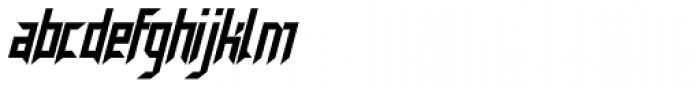 Neuntotter AOE Oblique Font LOWERCASE