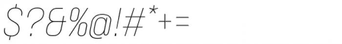 Neusa Next Std Condensed Thin Italic Font OTHER CHARS