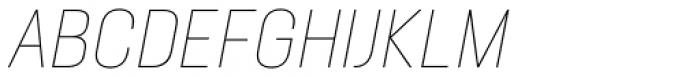 Neusa Next Std Condensed Thin Italic Font UPPERCASE