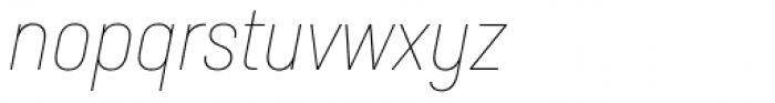 Neusa Next Std Condensed Thin Italic Font LOWERCASE