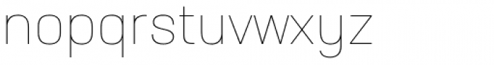 Neusa Next Std Thin Font LOWERCASE