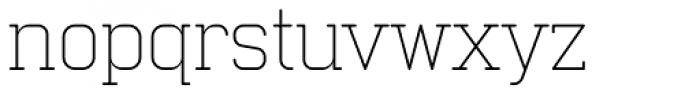 Neutraliser Serif Thin Font LOWERCASE