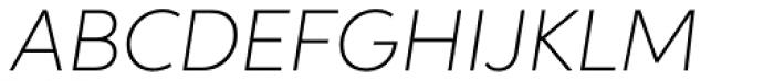 Neutro Thin Italic Font UPPERCASE