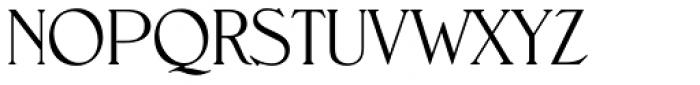 Nevada EF ExtraLight Font UPPERCASE