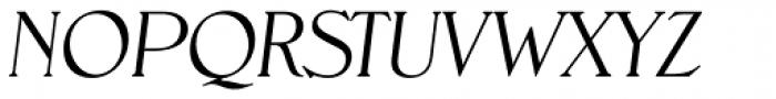 Nevada TS ExtraLight Obl Font UPPERCASE
