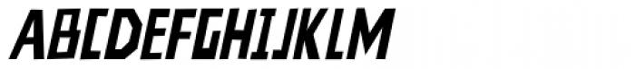 Nevermind Bold Italic Font UPPERCASE