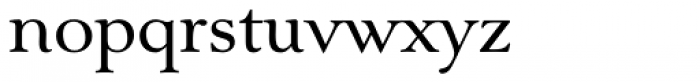 Nevia BT Pro Font LOWERCASE