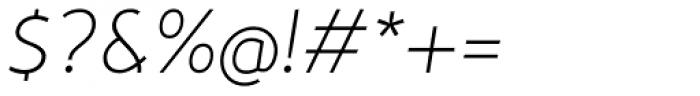 Nevo Thin Italic Font OTHER CHARS