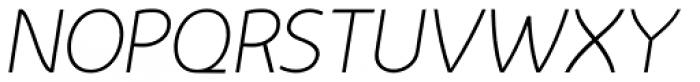 Nevo Thin Italic Font UPPERCASE