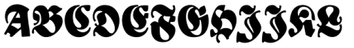 New Bayreuth D Font UPPERCASE