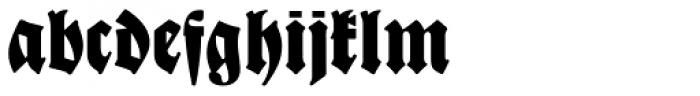 New Bayreuth D Font LOWERCASE