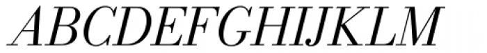 New Bodoni DT Book Italic Font UPPERCASE