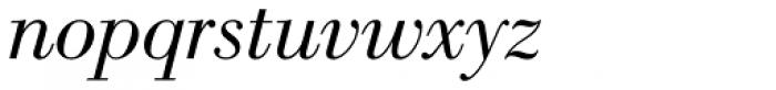 New Bodoni DT Book Italic Font LOWERCASE