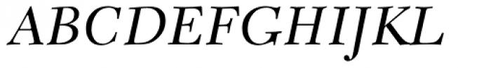 New Caledonia Italic Old Style Figures Font UPPERCASE