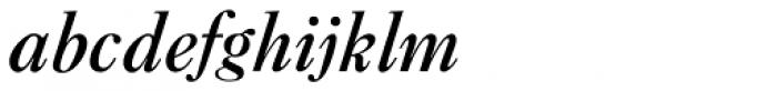 New Caslon SB Medium Italic Font LOWERCASE