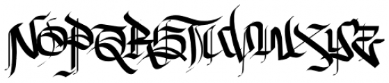 New English Font UPPERCASE