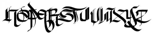 New English Font LOWERCASE